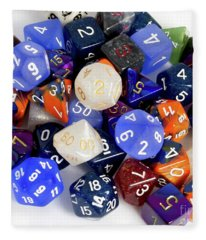 Rpg Dice Fleece Blanket