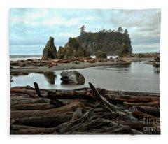 Ruby Beach Driftwood Fleece Blanket