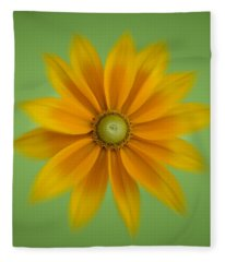 Rudbeckia Blossom Irish Eyes - Square Fleece Blanket