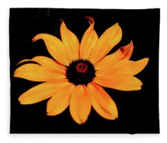 Rudbeckia Hirta Fleece Blanket