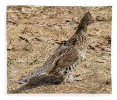 Ruffed Grouse Fleece Blanket