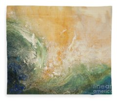 Rugged Coast Aerial View Fleece Blanket