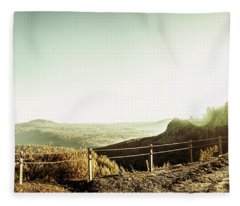 Rugged Mountain Trail Fleece Blanket