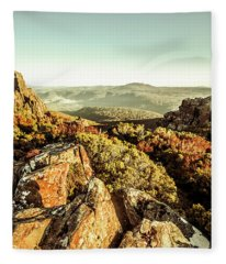 Rugged Mountaintops To Regional Valleys Fleece Blanket