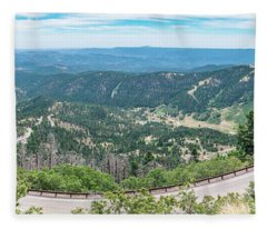 Ruidoso, Nm Panoramic Fleece Blanket