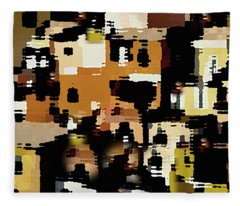 Ruins, An Abstract Fleece Blanket