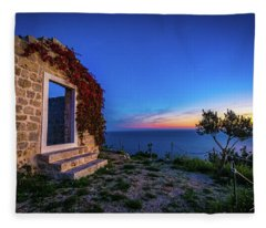 Ruins In Dubrovnik Fleece Blanket