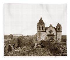 Ruins Of Carmel Mission, Monterey, Cal. Circa 1882 Fleece Blanket