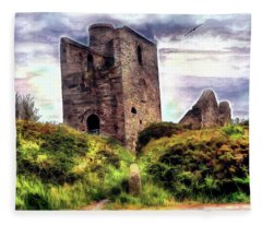 Ruins Of The Old Tin Mine Fleece Blanket