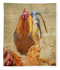 Ruler Of The Roost Fleece Blanket