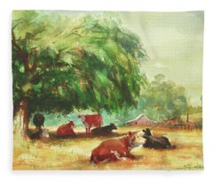 Rumination Fleece Blanket