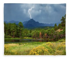 Fleece Blanket featuring the photograph Run For Cover by Rick Furmanek