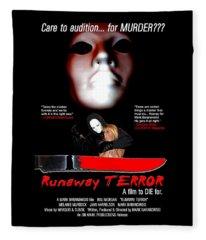 Runaway Terror Poster Fleece Blanket
