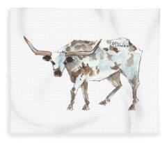 Running Back Texas Longhorn Lh070 Fleece Blanket