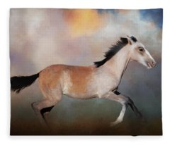 Running Colt Fleece Blanket