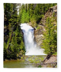 Running Eagle Falls Fleece Blanket
