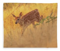 Running In Sunlight Fleece Blanket