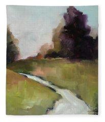 Running Stream Fleece Blanket