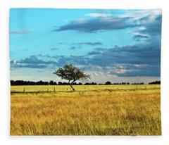 Rural Idyll Poetry Fleece Blanket