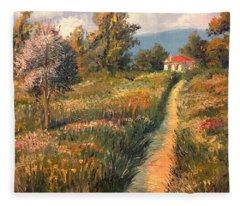 Rural Idyll Fleece Blanket