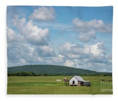 Rural Midwest Fleece Blanket