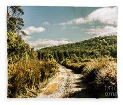 Rural Paths Out Yonder Fleece Blanket