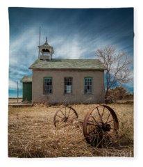 Rural School Fleece Blanket