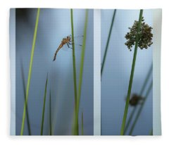 Rushes And Dragonfly Fleece Blanket
