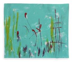 Rushes And Reeds Fleece Blanket