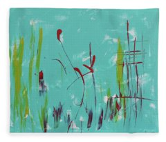 Rushes And Reeds Fleece Blanket