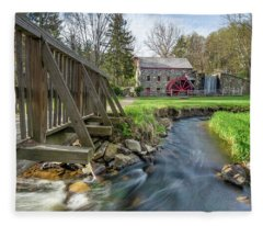 Rushing Water At The Grist Mill Fleece Blanket