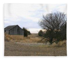 Russell County Barn Fleece Blanket