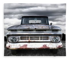 Rust And Proud - 62 Chevy Fleetside Fleece Blanket