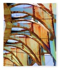 Rust Pavilion World's Fair 1964 Ny Fleece Blanket