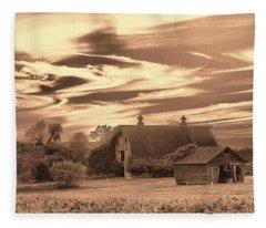 Rustic Barn 2 Fleece Blanket