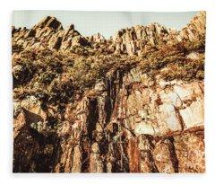 Rustic Cliff Spring Fleece Blanket