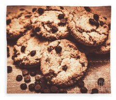Rustic Kitchen Cookie Art Fleece Blanket