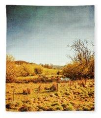 Rustic Pastoral Australia Fleece Blanket