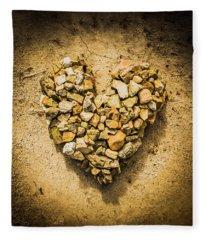 Rustic Rock Romance Fleece Blanket