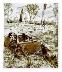 Rustic Rural Decay Fleece Blanket