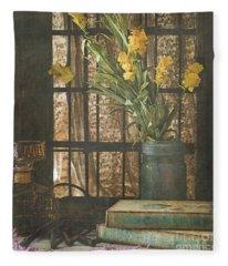Rustic Still Life 1 Fleece Blanket