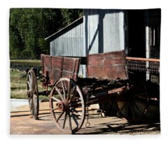 Rustic Wagon Fleece Blanket