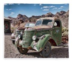 Rusting In The Desert Fleece Blanket