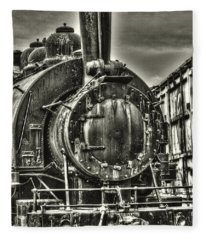 Rusting Locomotive Fleece Blanket