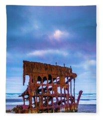 Rusting Peter Iredale Fleece Blanket