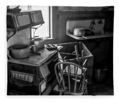 Rusting Pots And Pans, Bodie Ghost Town Fleece Blanket