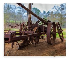 Rusty Farming Fleece Blanket
