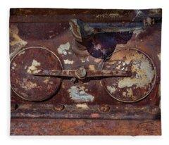 Rusty Gears Fleece Blanket