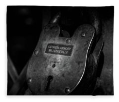 Rusty Lock In Bw Fleece Blanket