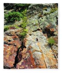 Rusty Rock Face Fleece Blanket